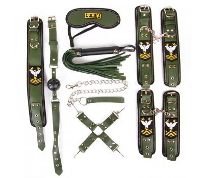 НАБОР (наручники, оковы, ошейник с поводком, кляп, маска, плеть, фиксатор)